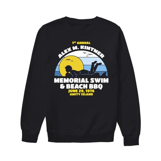 1st Annual Alex M.Kintner memorial swim and beach BBQ June 29 1976 Amity Island Sweater