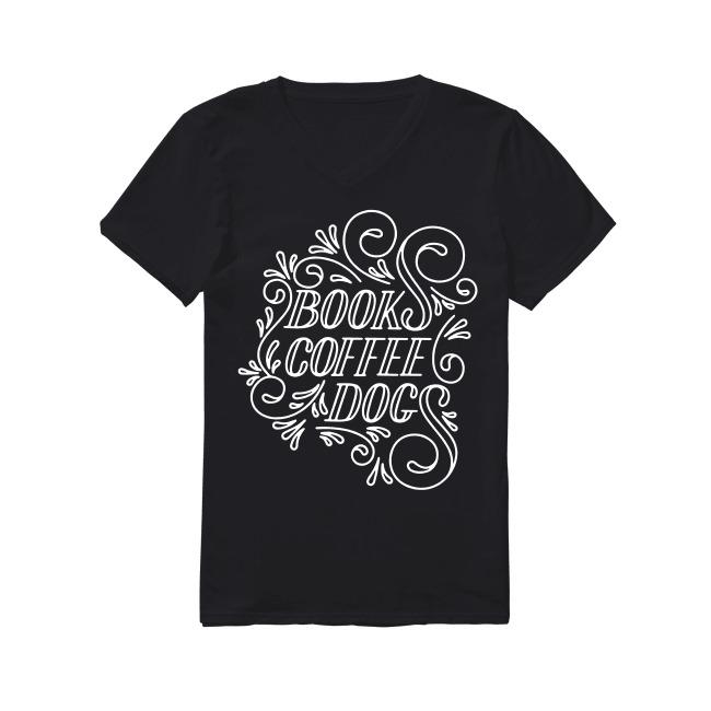 Book Coffee Dog V-neck T-shirt