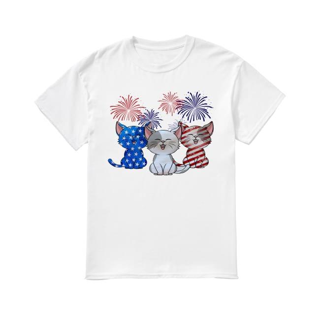 Cats colors American flag shirt