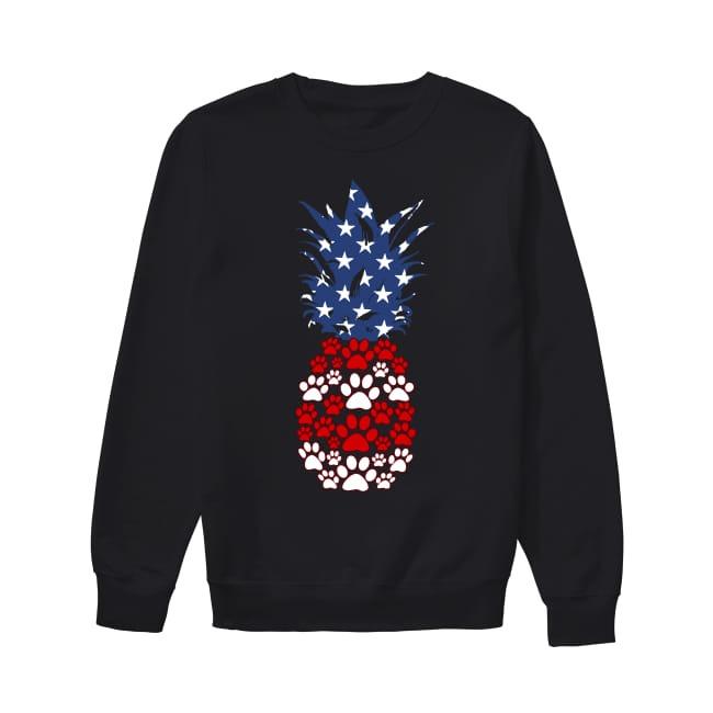 Dog Pineapple flag America Sweater