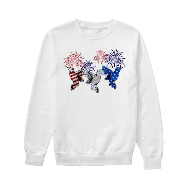 Hummingbirds colors flag America Sweater