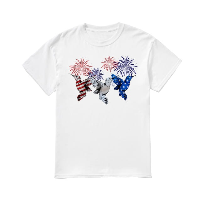 Hummingbirds colors flag America shirt