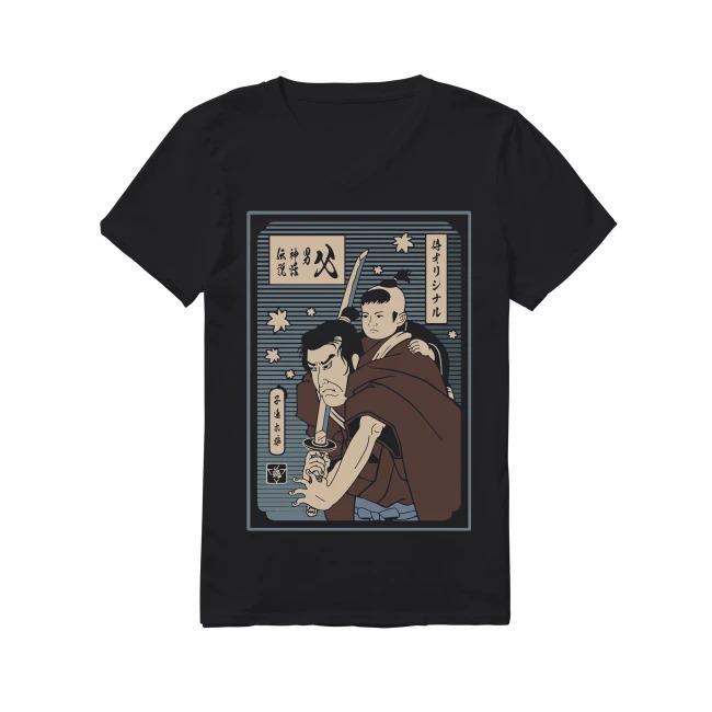 Papa Samurai Lone Wolf and Cub The man the myth V-neck T-shirt
