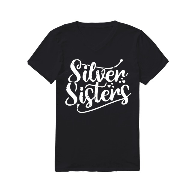 Silver sisters V-neck T-shirt