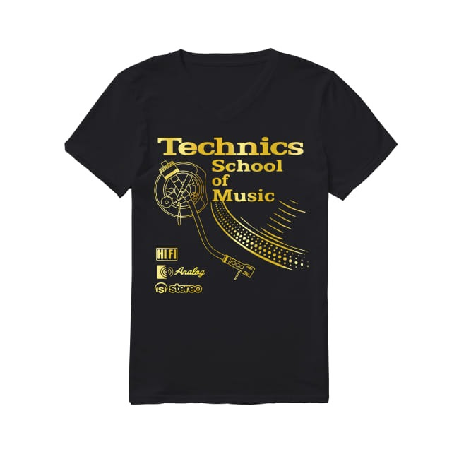 Technics School of Music V-neck T-shirt