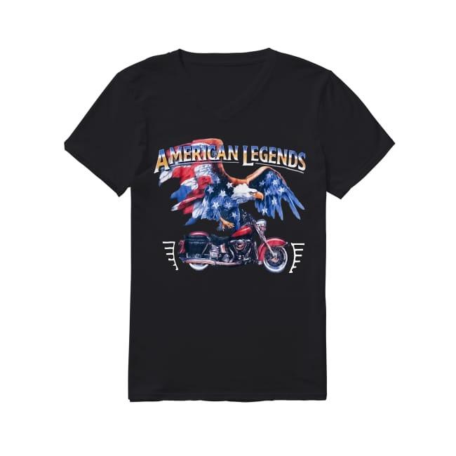 Vintage american legend motorcycle V-neck T-shirt