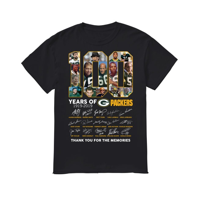100th Years Of Green Bay Packers 1919-2019 shirt