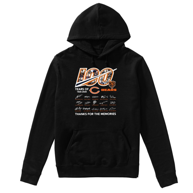 100th Years Of Chicago Bears Rugby Team 1920-2020 Hoodie