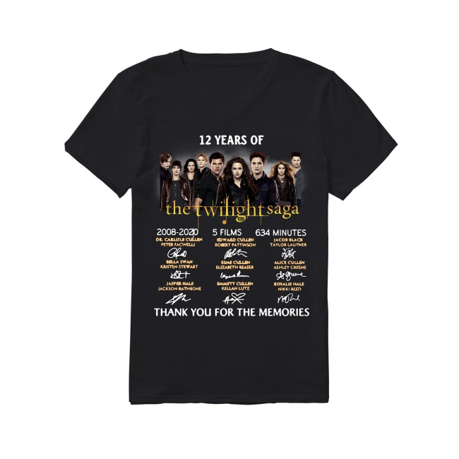 12 Years of The Twilight Saga 2008-2020 signature V-neck T-shirt