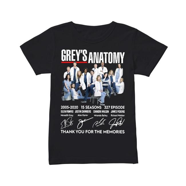 15th Years Of Grey's Anatomy 2005-2020 Ladies Tee