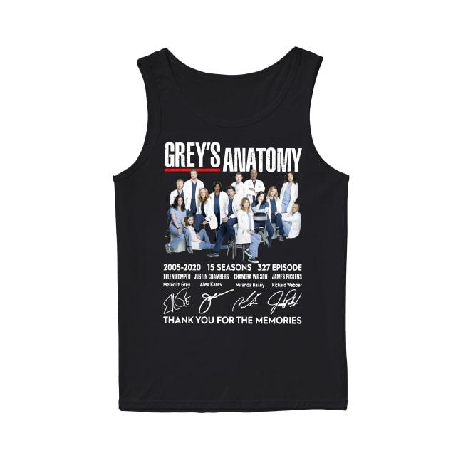15th Years Of Grey's Anatomy 2005-2020 Tank Top