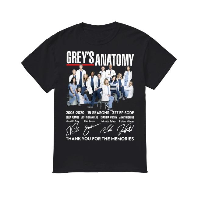 15th Years Of Grey's Anatomy 2005-2020 shirt