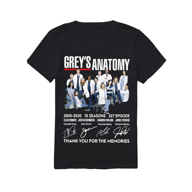 15th Years Of Grey's Anatomy 2005-2020 V-neck T-shirt