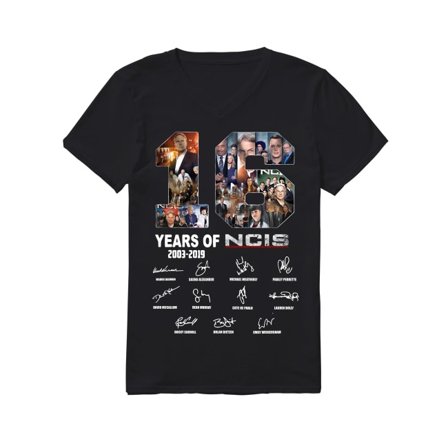 16th Years Of NCIS 2003-2019 V-neck T-shirt