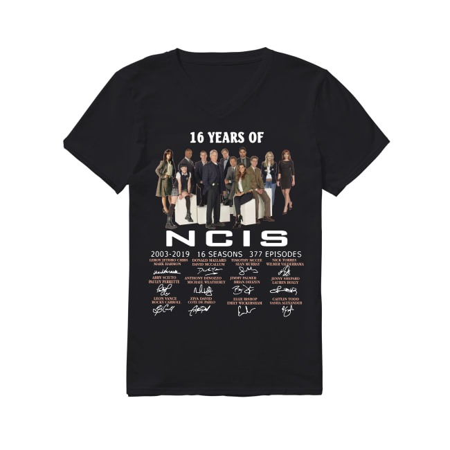16th Years Of NCIS New Orleans 2003-2019 V-neck -T-shirt