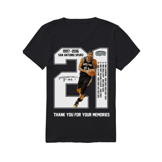 21th Years Of San Antonio Spurs 1997-2016 V-neck T-shirt