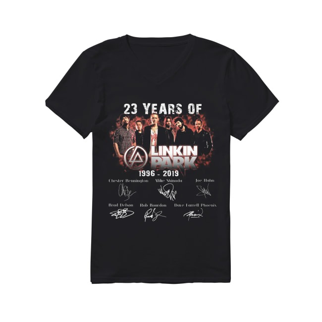 23th Years Of Linkin Park 1996-2019 V-neck T-shirt
