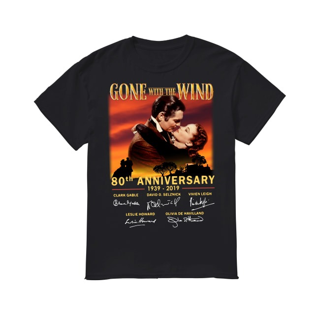 80th Anniversary Gone with the Wind 1939-2019 shirt