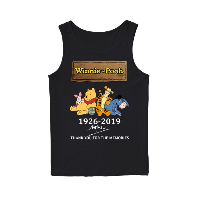 93th Years Of Winnie The Pooh 1926-2019 Tank Top