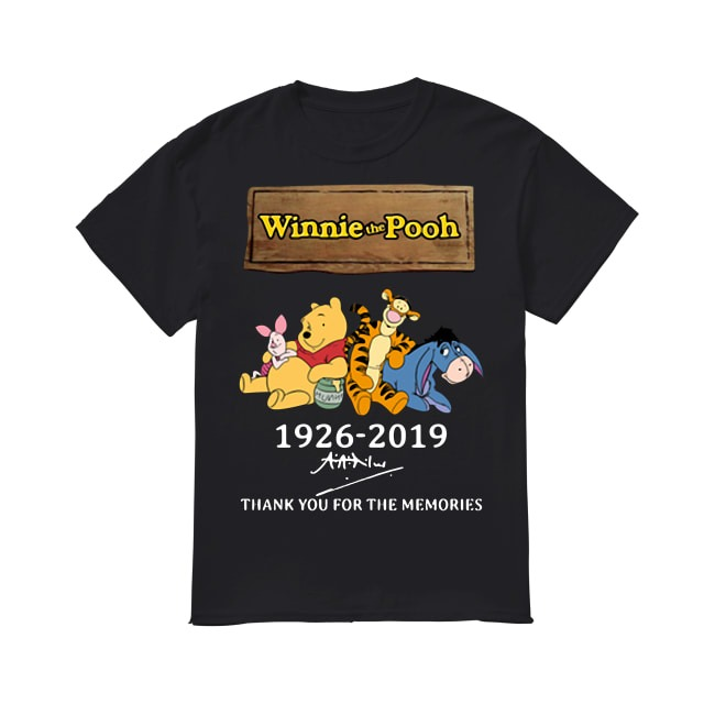 93th Years Of Winnie The Pooh 1926-2019 shirt