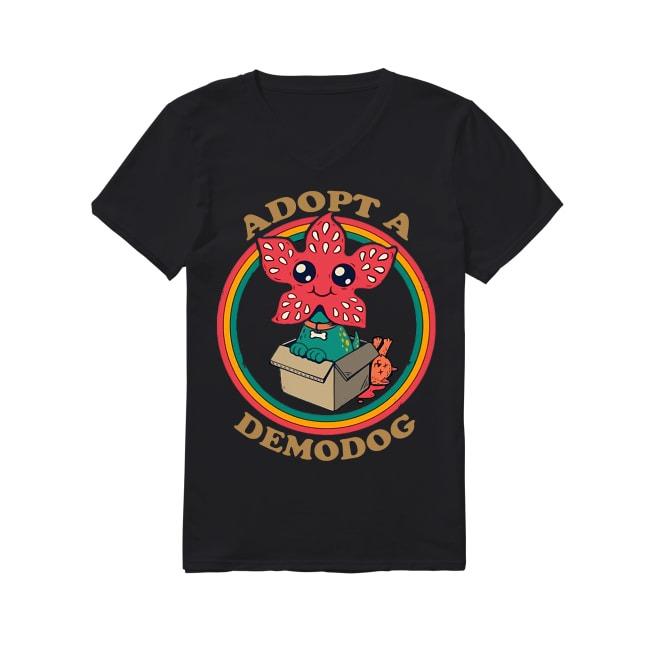 Adopt A Demodog V-neck -T-shirt