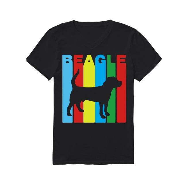 Beagle Breed Dog V-neck -T-shirt