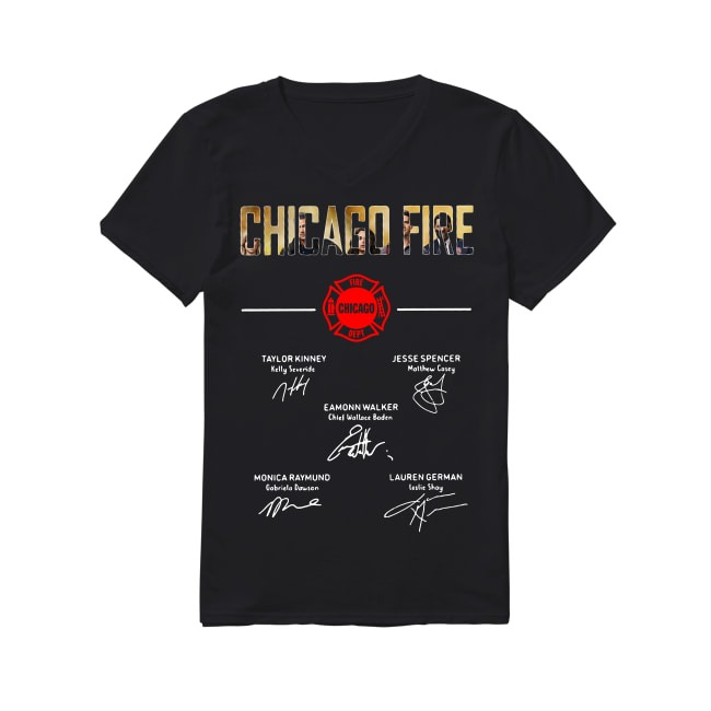 Chicago Fire Department Logo And Signature Shirt Sweater And Tank Top