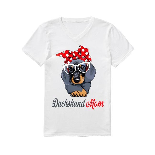 Dachshund Dog mom V-neck T-shirt