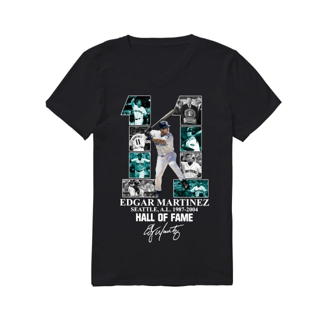 Edgar Martinez Hall Of Fame V-neck T-shirt