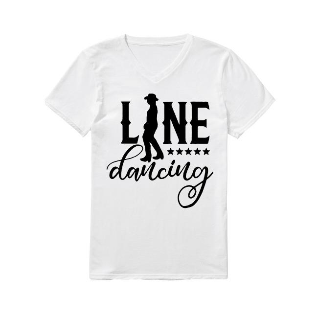 Line Dancing V-neck -T-shirt