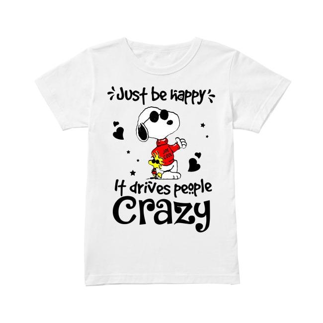 Snoopy Just be happy Ladies Tee