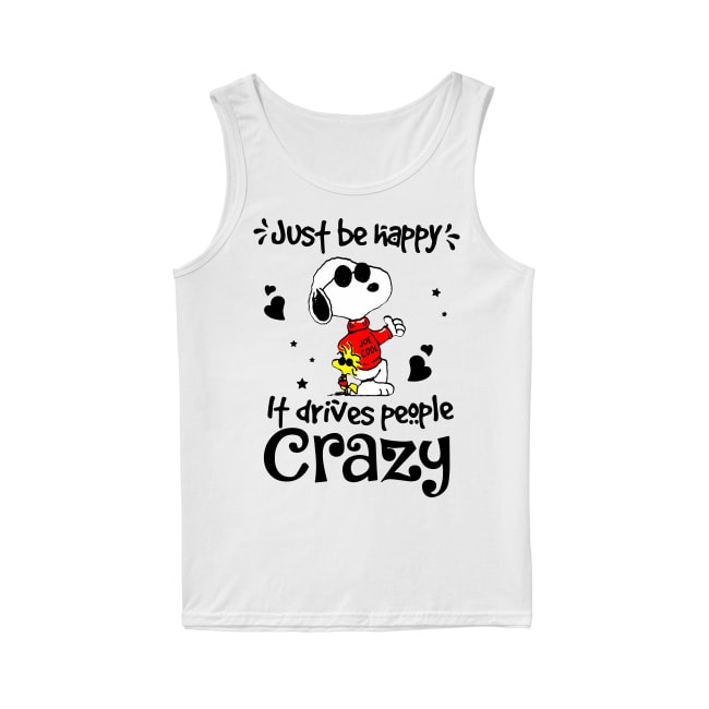 Snoopy Just be happy Tank Top
