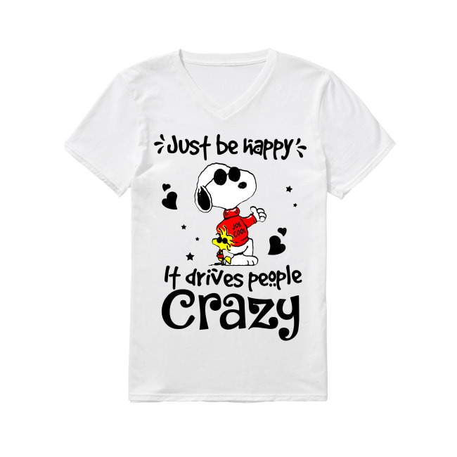 Snoopy Just be happy V-neck T-shirt