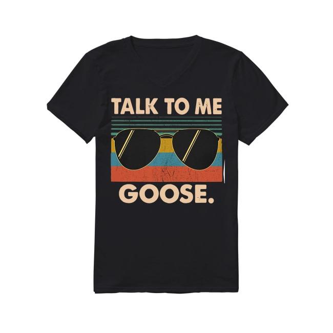 Talk To Me Goose V-neck T-shirt