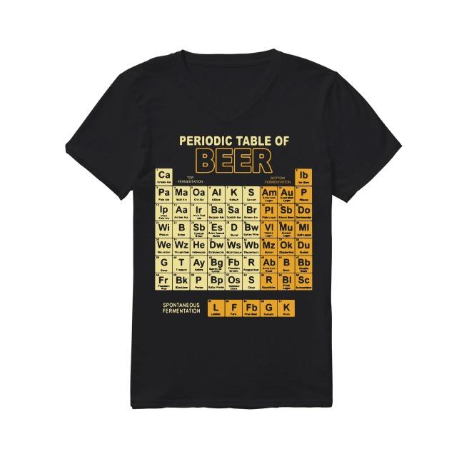 Teacher Chemist Periodic Table Of Beer V-neck -T-shirt