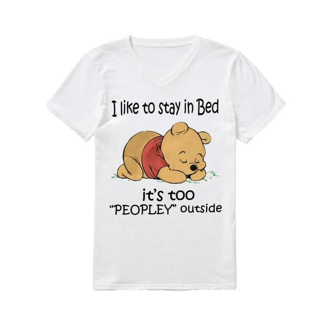 Winnie the Pooh I like to stay in bed V-neck -T-shirt