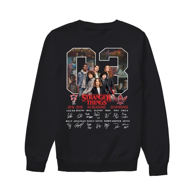 03th Years Of Stranger Things 2016-2019 Sweater