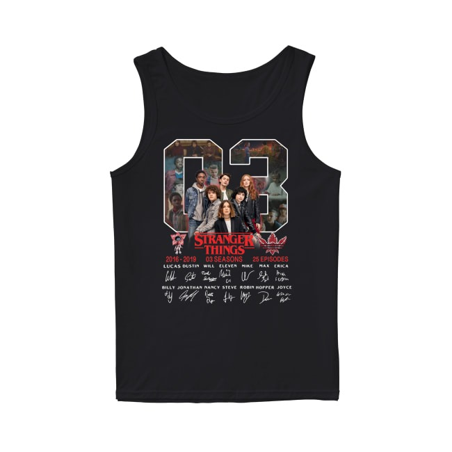 03th Years Of Stranger Things 2016-2019 Tank Top