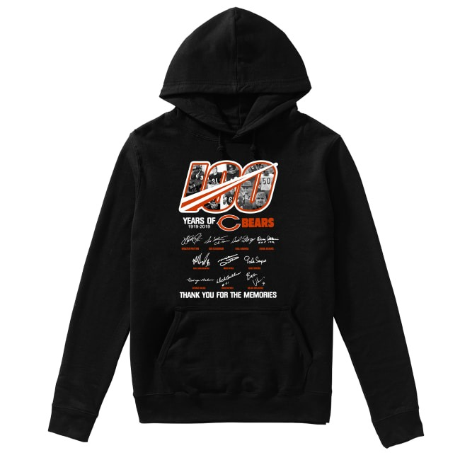 100th Years Of Chicago Bears 1919-2019 Hoodie
