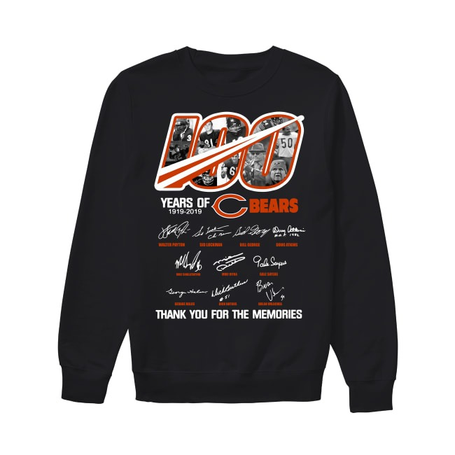 100th Years Of Chicago Bears 1919-2019 Sweater