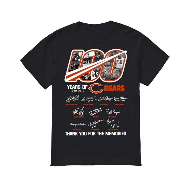100th Years Of Chicago Bears 1919-2019 shirt