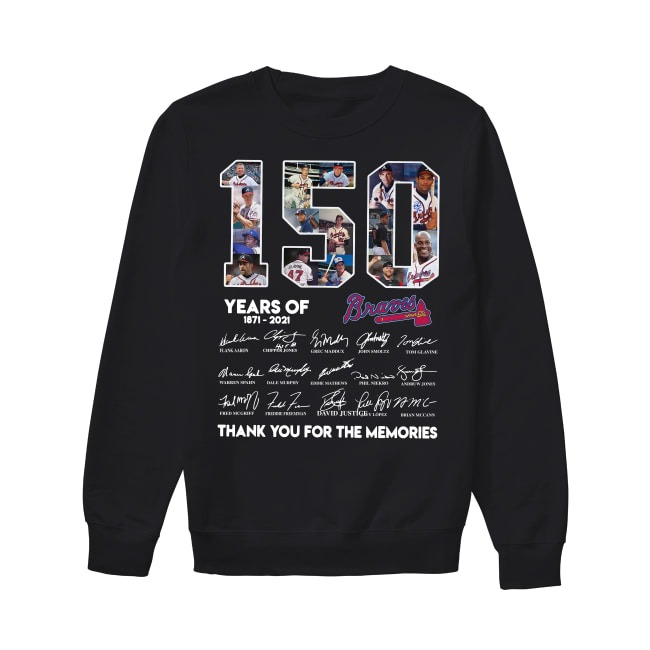 150th Years Of Atlanta Braves Baseball 1871-2021 Sweater