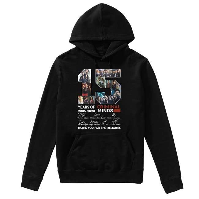 15th Years Of Criminal Minds 2005-2020 Hoodie