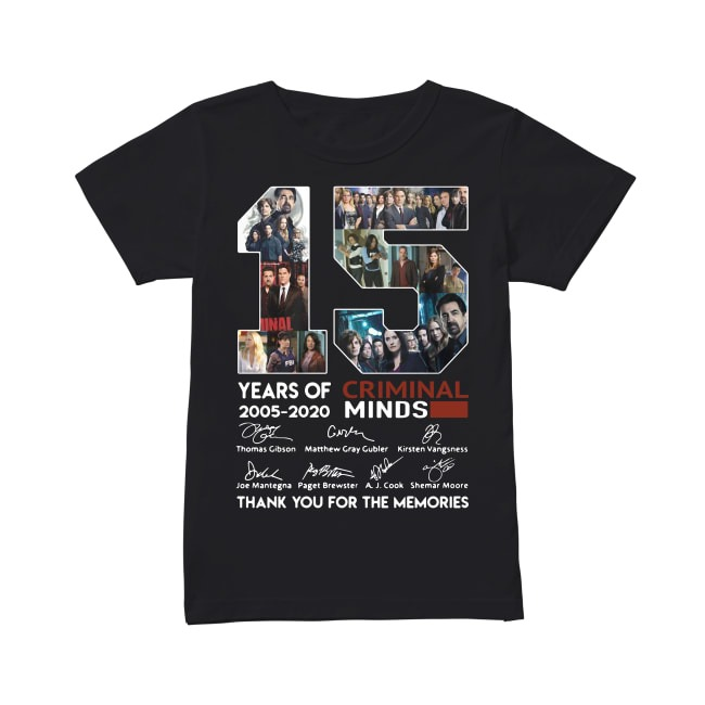 15th Years Of Criminal Minds 2005-2020 Ladies Tee