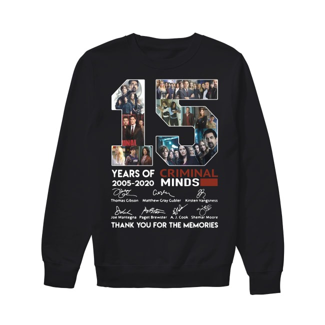 15th Years Of Criminal Minds 2005-2020 Sweater