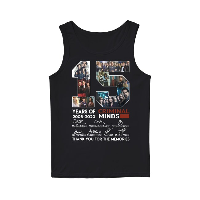 15th Years Of Criminal Minds 2005-2020 Tank Top