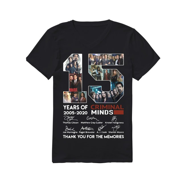 15th Years Of Criminal Minds 2005-2020 V-neck T-shirt