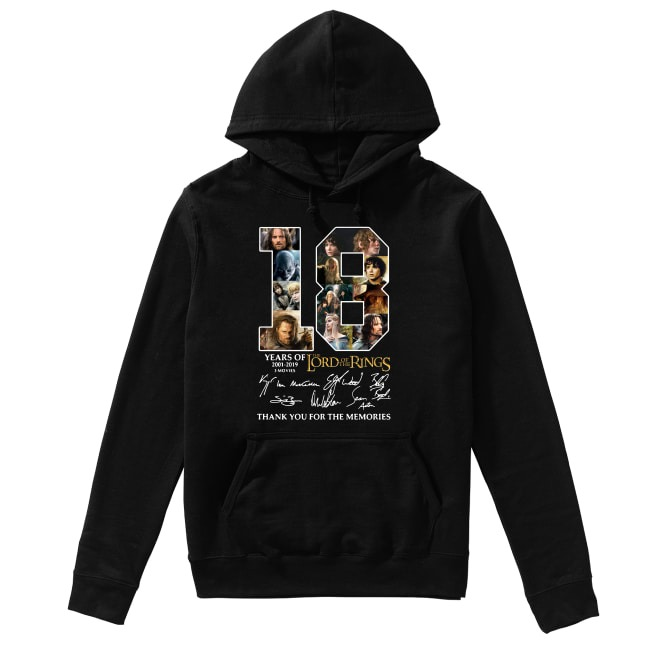 18th Years Of The Lord Of The Rings 2001-2019 Hoodie