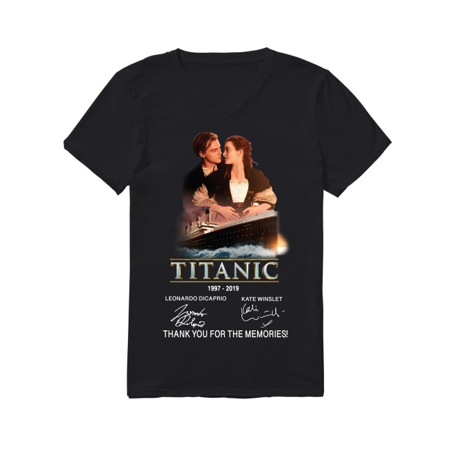 22th Years Of Titanic 1997-2019 V-neck T-shirt