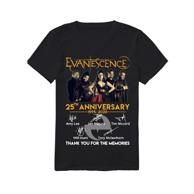25th Anniversary Evanescence 1995-2020 V-neck T-shirt